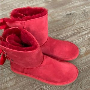 New red UGG boots